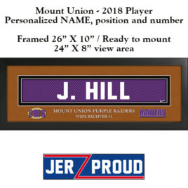 JerZ Proud Mount Union Player 2018