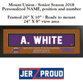 JerZ Proud Mount Union SENIOR 2018