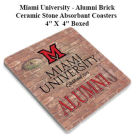 Coaster Set of 4 – Miami Alumni Brick