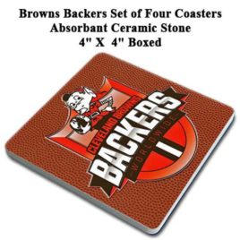Coaster Set of 4 – Browns Backers